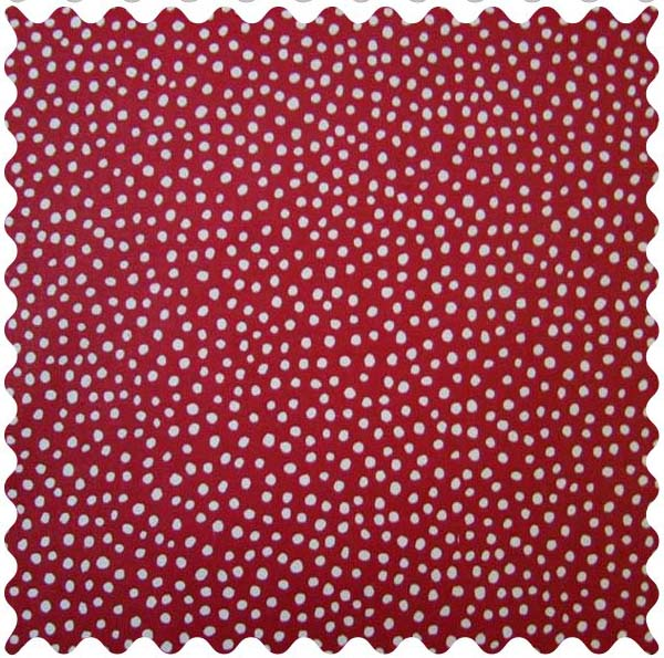 Fabric Shop – Red Fun Dots Fabric – Yard