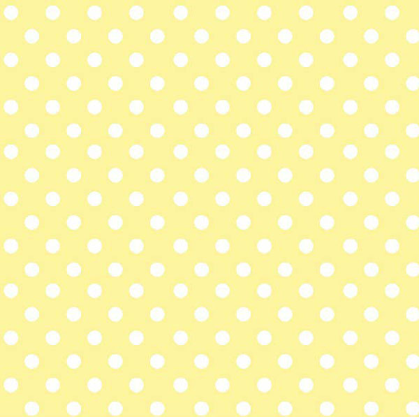 Pastel Yellow Polka Dots Woven Portable Mini Crib