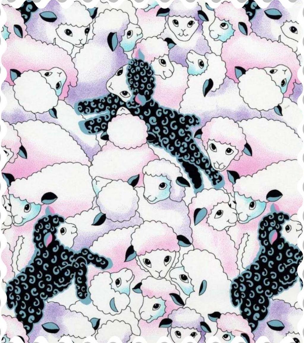 Colorful Sheep Fabric Fabric Shop Sheets Sheetworld