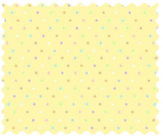 Fabric Shop – Pastel Colorful Pindots Yellow Woven Fabric – Yard