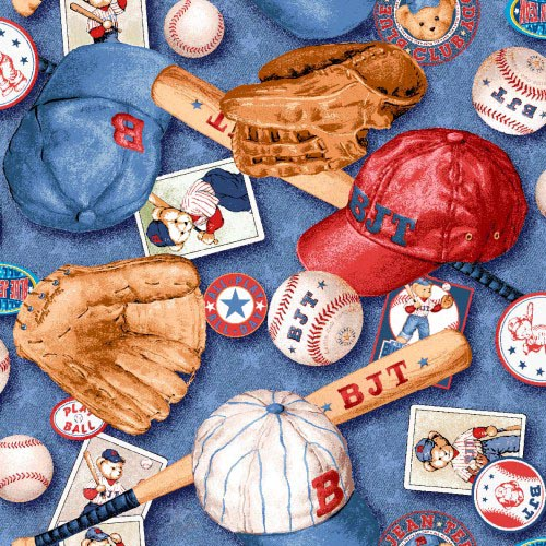 Crib / Toddler – Baseball Bear – Matching Dust Ruffle