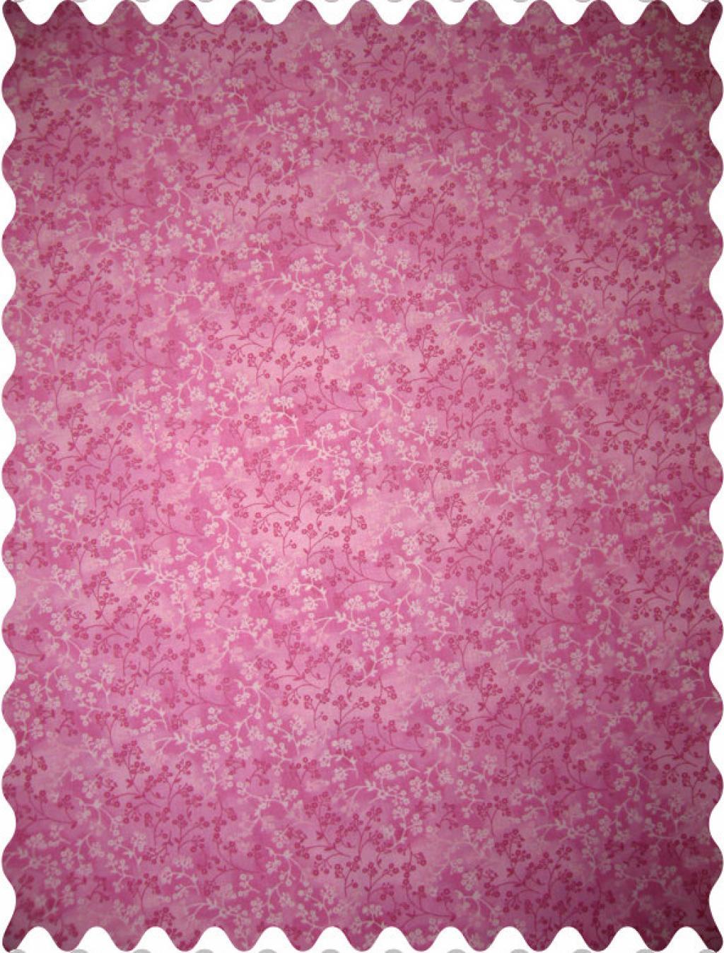 Fabric Shop – Pink Floral Fabric – Yard
