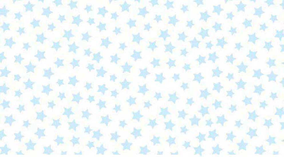 Oval (Stokke Mini) – Pastel Blue Stars Woven – Fitted  Oval