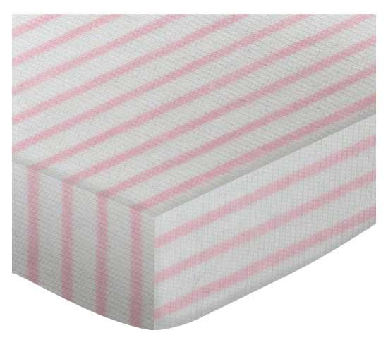 Pink Stripes Crib Sheets Pink Stripes Toddler Sheets