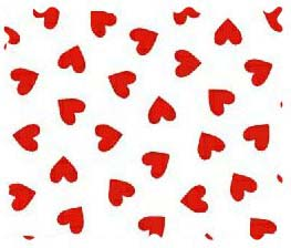 Fabric Shop – Primary Hearts Red Woven Fabric – Yard