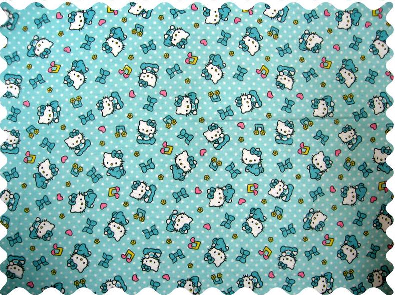 Hello Kitty Blue Fabric Fabric Shop Sheets Sheetworld