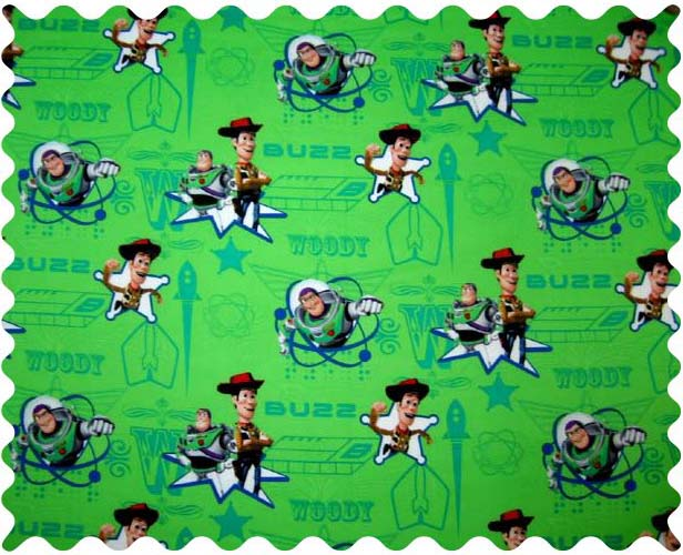 Fabric Shop – Buzz Light Year Green Fabric – Yard