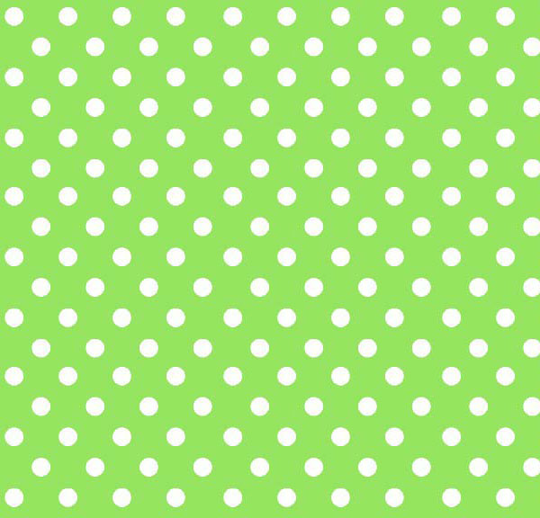 European Crib - Primary Polka Dots Green Woven - Fitted
