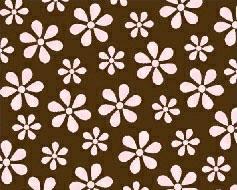 Crib / Toddler – Pink Floral Brown Woven – Matching Bumper