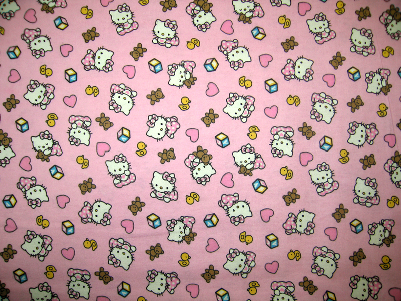 """SheetWorld Fitted Crib / Toddler Sheet - Hello Kitty Pink - 28"""" x 52"""" - Made In USA at Sears.com"""