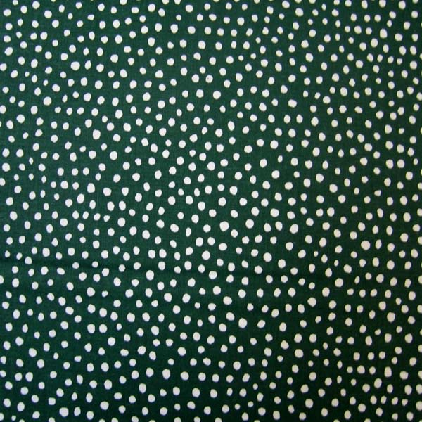 "Round Crib – Hunter Green Fun Dots – 45"" Fitted"