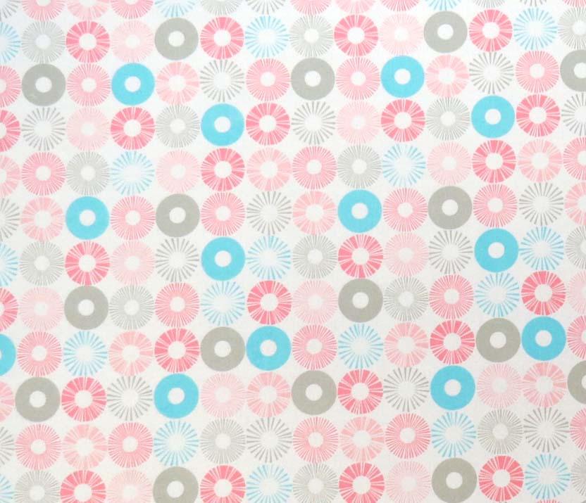 SheetWorld SheetWorld Round Crib Sheets - Pastel Rings - Made In USA