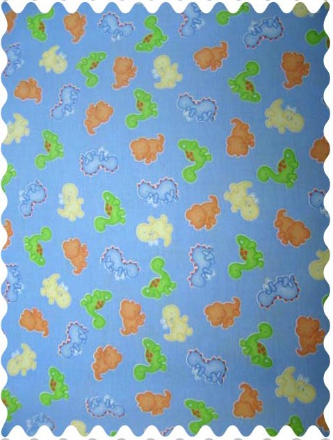 Fabric shop baby dino blue fabric yard baby crib for Baby dinosaur fabric