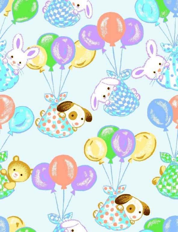 Oval Crib (Stokke Sleepi) – Pastel Bunnies – Fitted  Oval