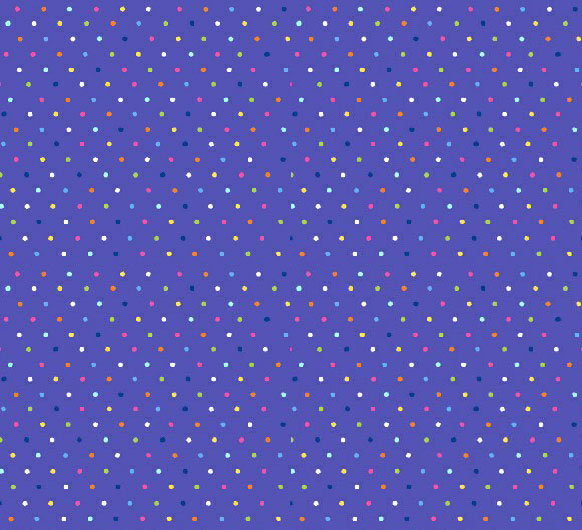 Square Playard (Graco) - Primary Colorful Pindots Purple Woven - Fitted