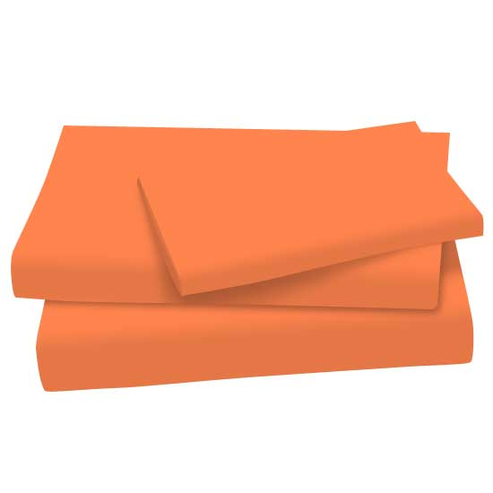 Burnt Orange Cotton Jersey Knit Twin Twin Sheet Sets