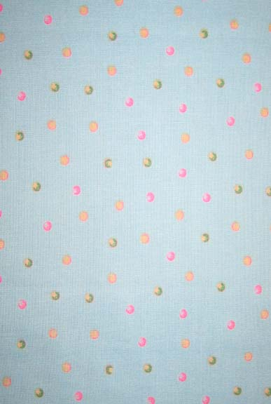 Crib / Toddler - Colorful Dots On Mint - Fitted-Flat
