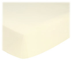 "Organic – ORGANIC Ivory Jersey Knit ROUND CRIB Sheet – 42"" Fitted"