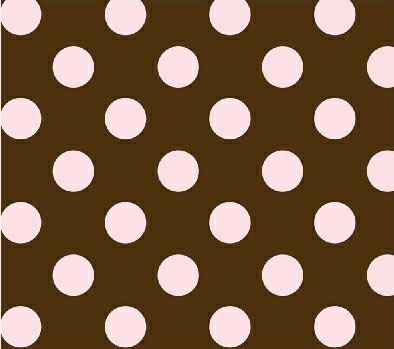 Oval (Stokke Mini) – Pink Polka Dots Brown Woven – Fitted  Oval