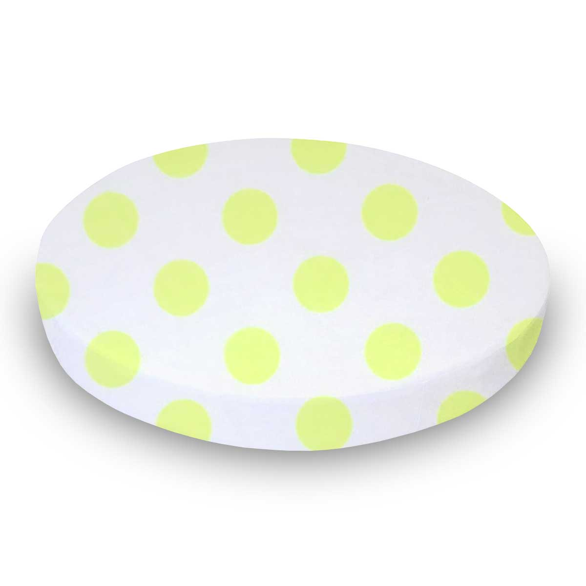 Neon Yellow Polka Dots