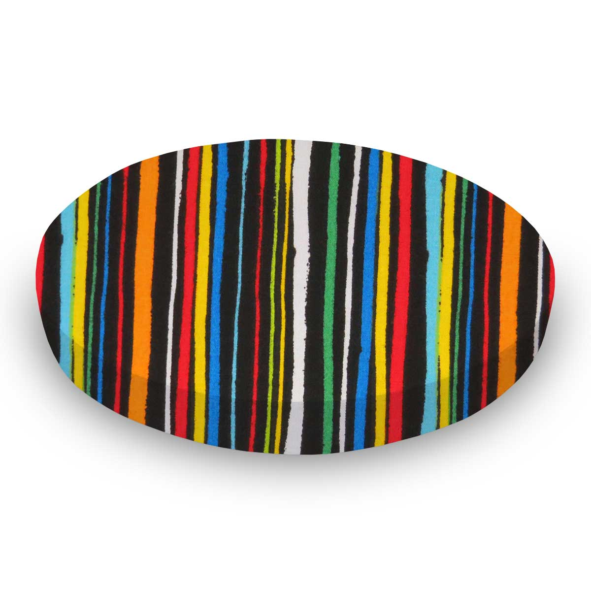 Colored Stripes Black