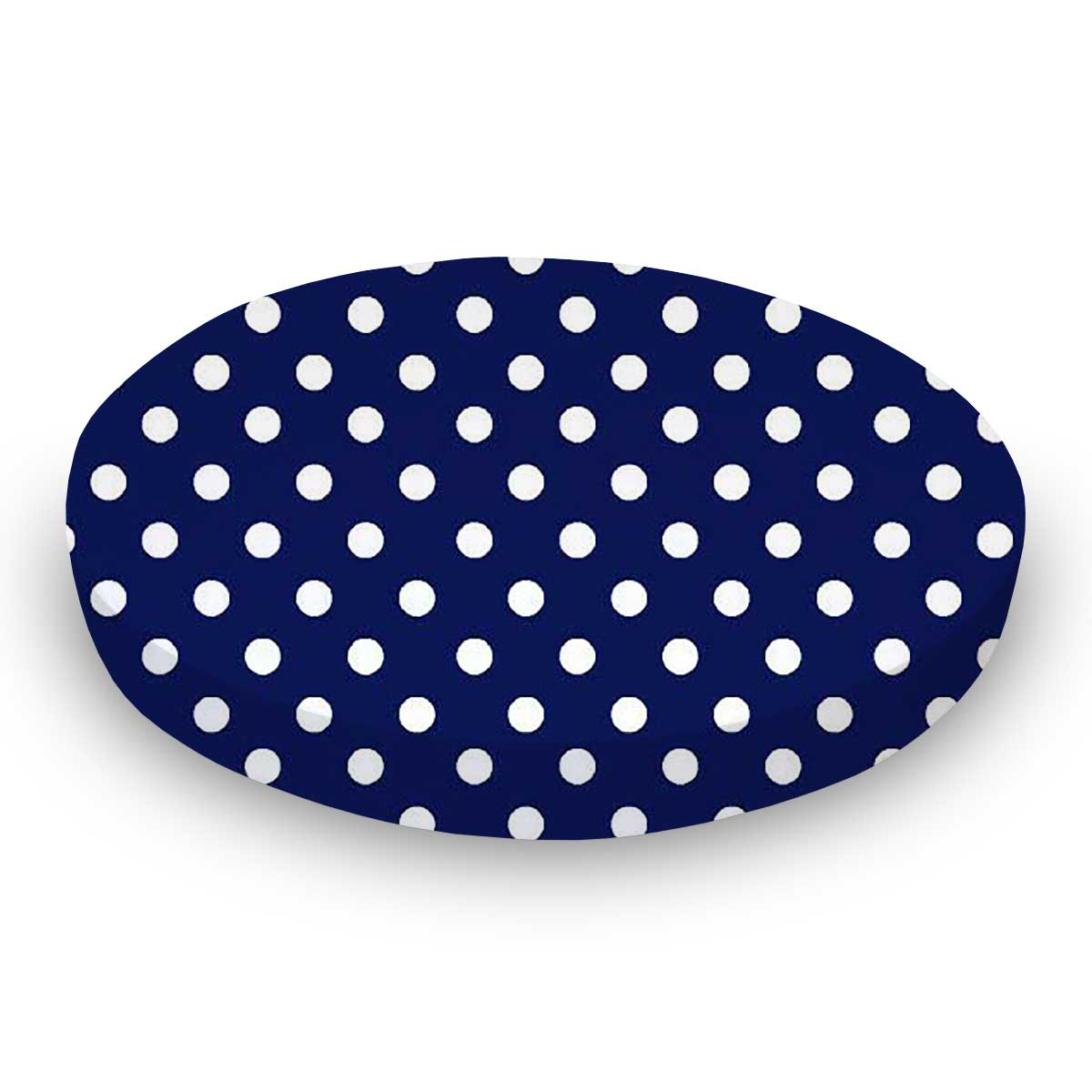 Primary Polka Dots Navy Woven