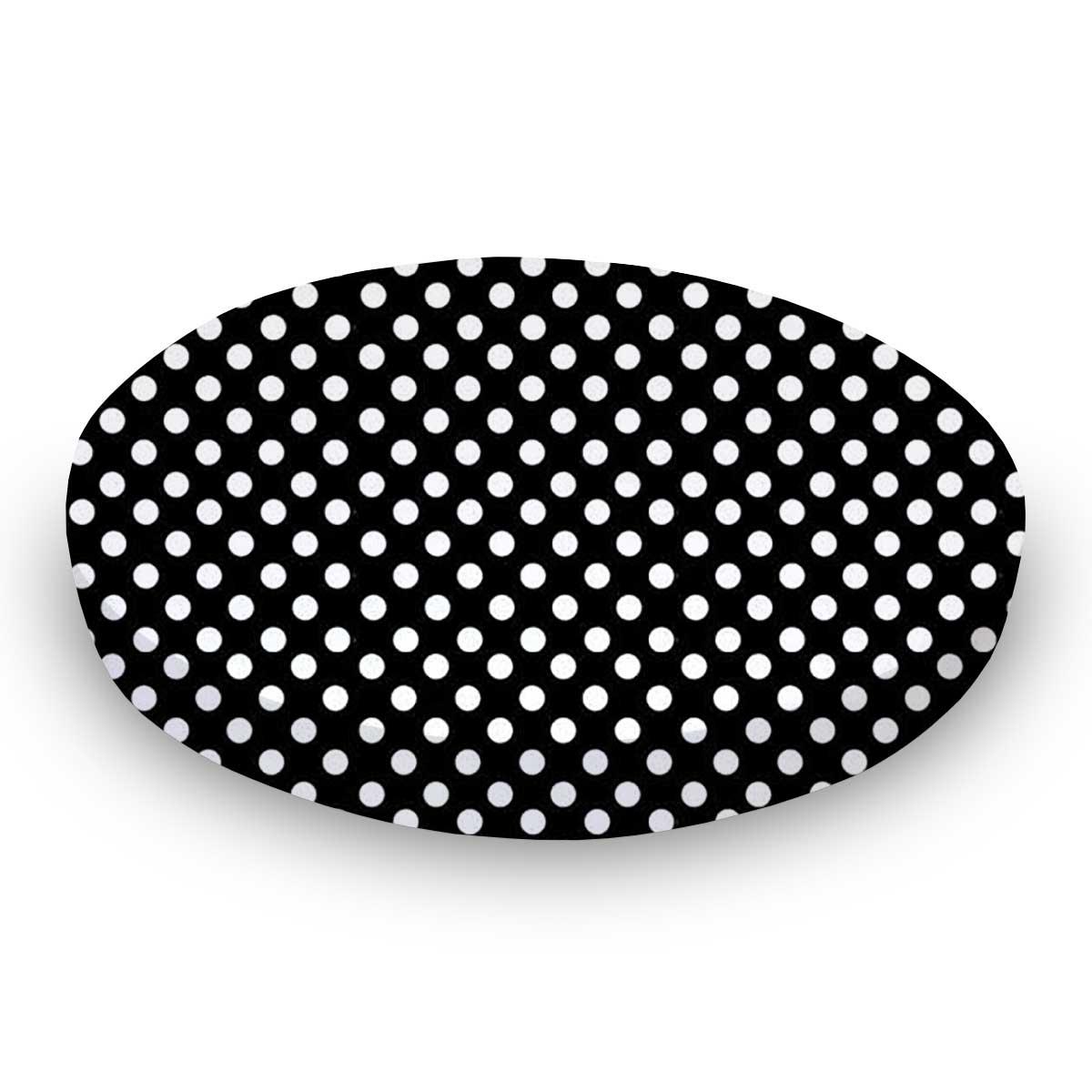 Primary Polka Dots Black Woven
