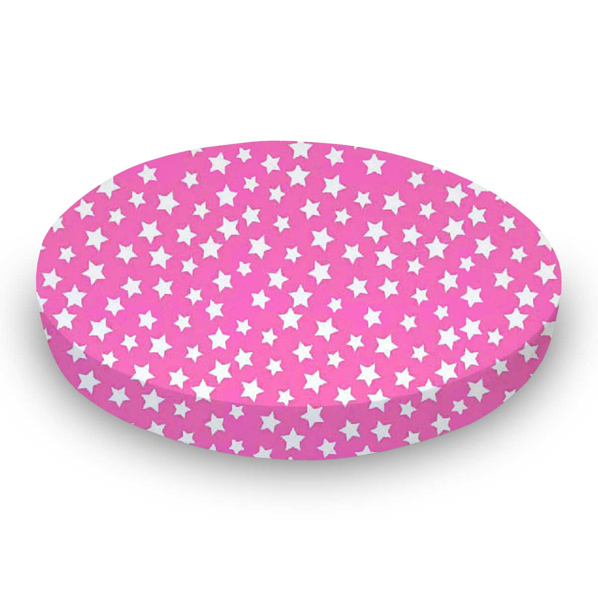 Primary Stars White On Pink Woven