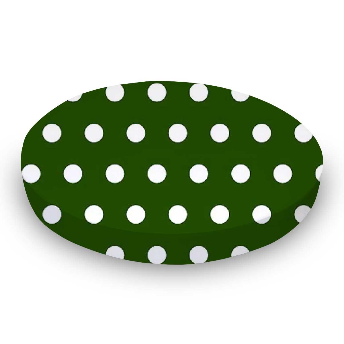 Polka Dots Hunter Green Oval Stokke Mini Sheets
