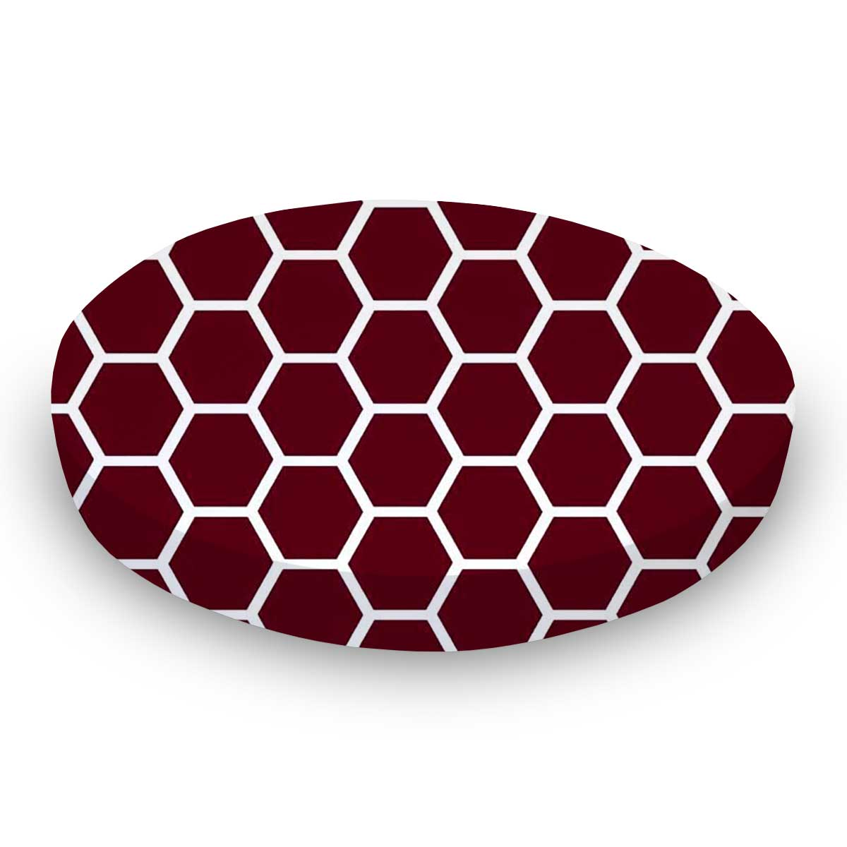 Burgundy Honeycomb