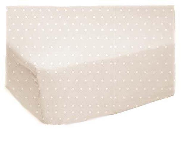 SheetWorld Fitted Crib / Toddler Sheet - Cream Pindot Jersey Knit - 28