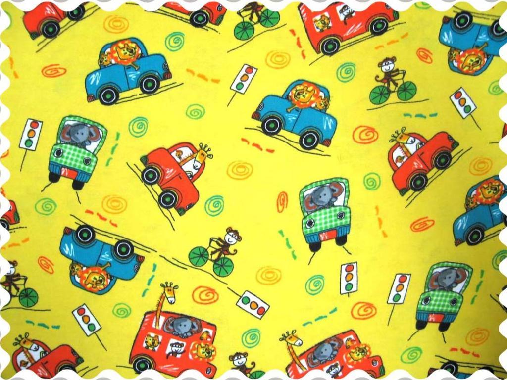 Fabric Shop – Animal Traffic Yellow Fabric – Yard