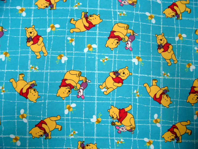 SheetWorld Fitted Pack N Play (Graco) Sheet - Pooh Blue Grid - 27