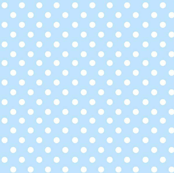 Crib / Toddler – Pastel Blue Polka Dots Woven – Fitted