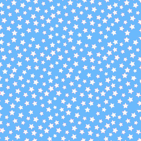 Crib / Toddler - Primary Stars White On Blue Woven - Matching Dust Ruffle