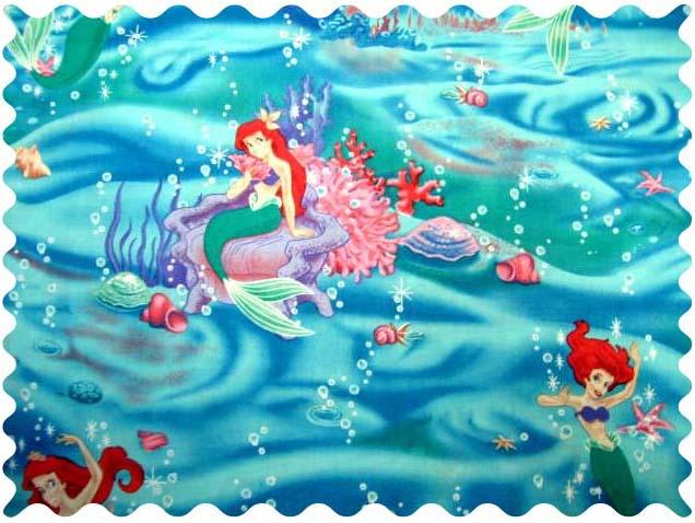 Mini Crib Mattress Size Little Mermaid Fabric | Fabric Shop Sheets | Sheetworld