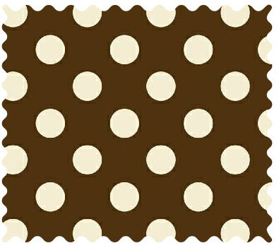 Fabric Shop Cream Polka Dots Brown Woven Fabric Yard