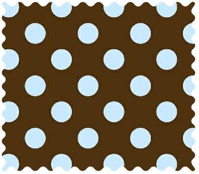 Brown Ribbon With Blue Polka Dots 43