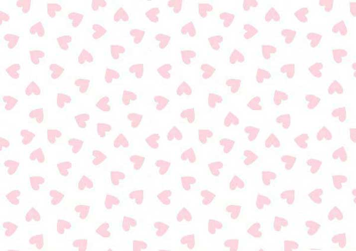 Portable / Mini Crib - Pastel Pink Hearts Woven - Matching Dust Ruffle