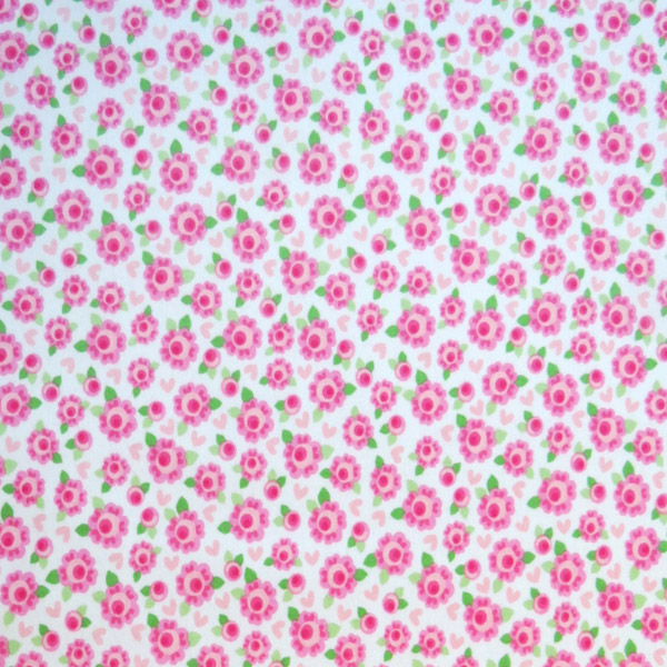 """SheetWorld Fitted Sheet (Fits BabyBjorn Travel Crib Light) - Pink Flowers - 24"""" x 42"""" - Made In USA"""