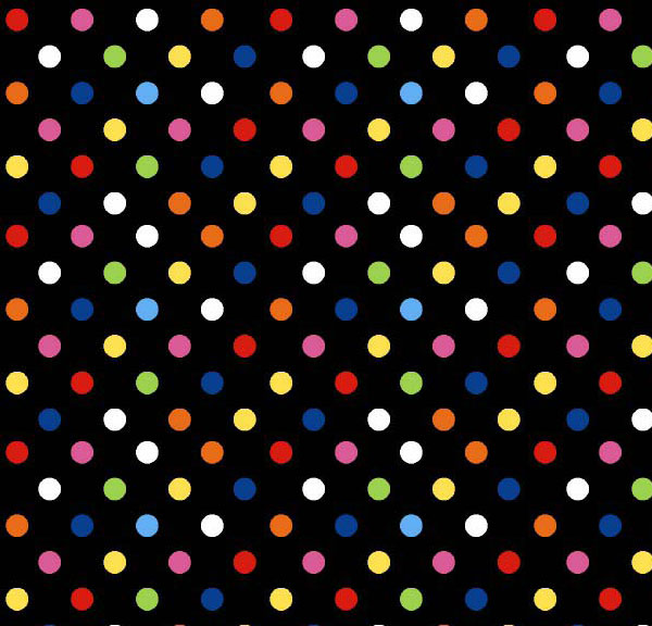 baby bedding - Portable / Mini Crib - Primary Colorful Dots Black Woven - Fitted 24x39x5.5 - Portable / Mini Crib Sheets