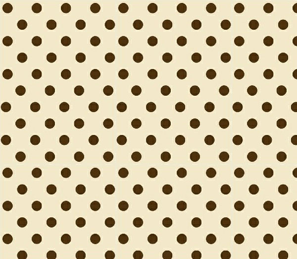 Square Playard (Graco) – Brown Polka Dots Cream Woven – Fitted
