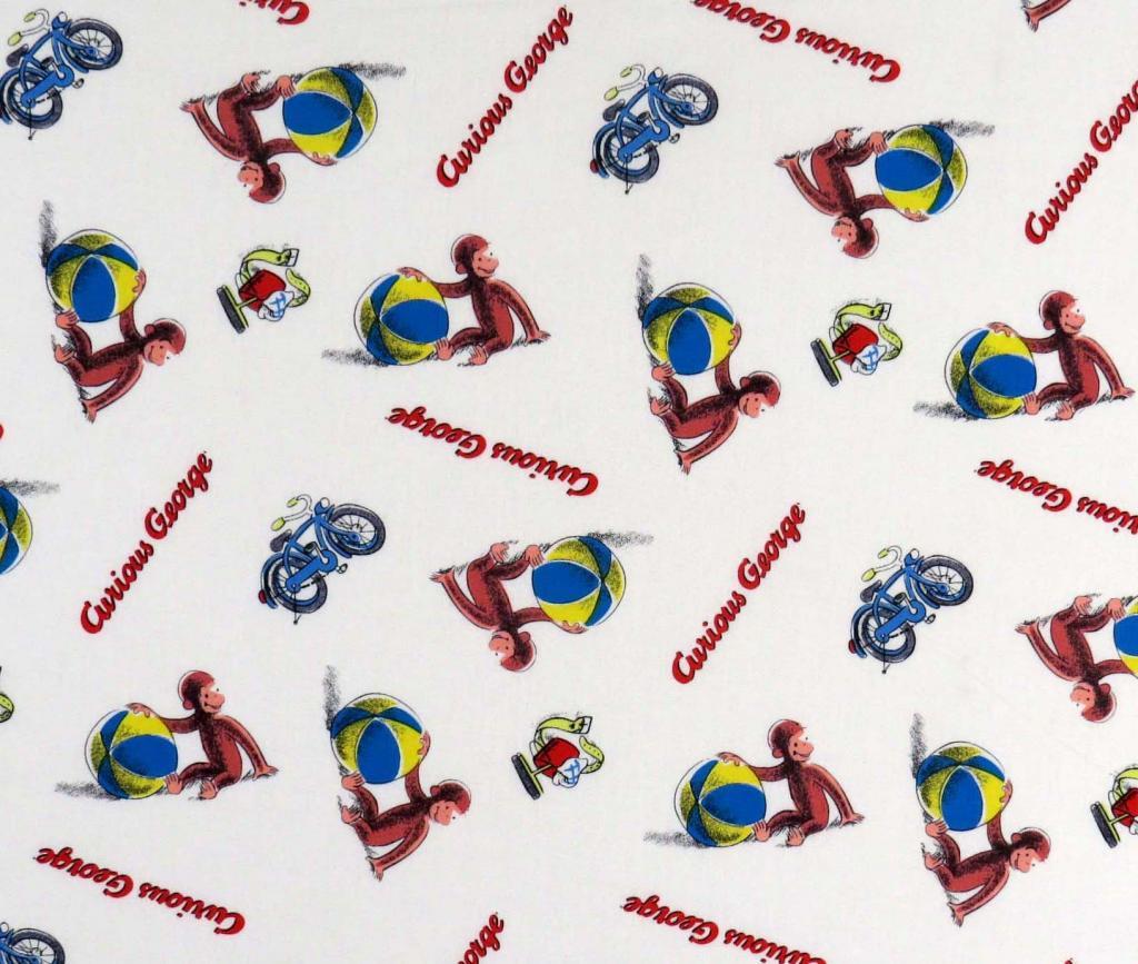 Curious George Beach Balls Portable Mini Crib Sheets