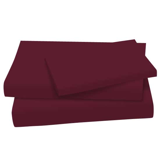 Solid Burgundy Woven Twin Twin Sheet Sets Sheets