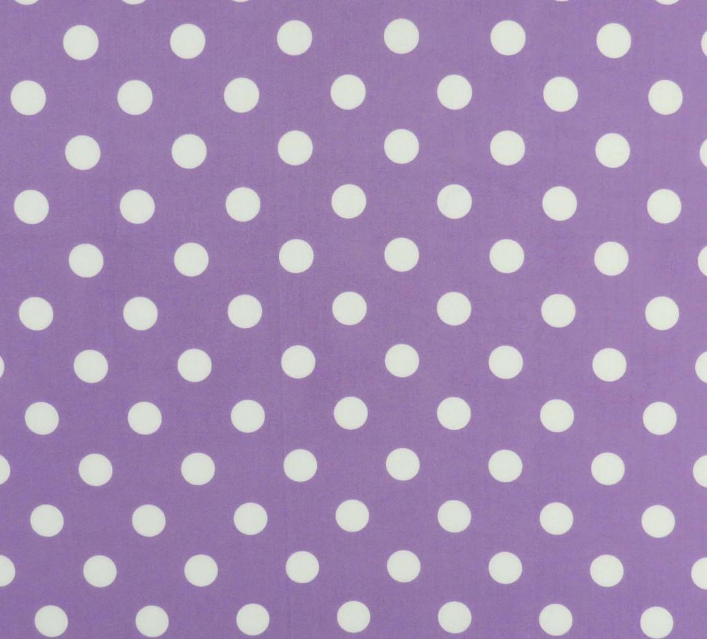 Pastel Lavender Polka Dots Woven Crib Toddler Sheets
