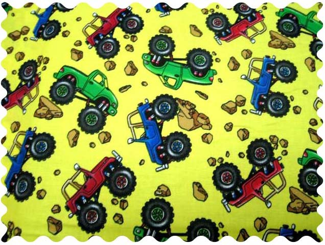 Fabric Shop - Monster Trucks Fabric - Yard