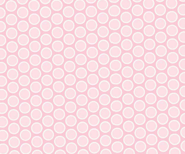 European Crib – Pastel Pink Bubbles Woven – Fitted