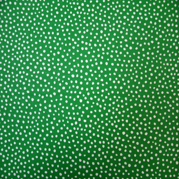 European Crib - Forest Green Fun Dots - Sheet Set (flat, fitted,baby pillow case)