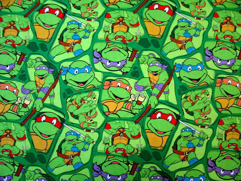 SheetWorld Fitted Basket Sheet - Ninja Turtles - 13