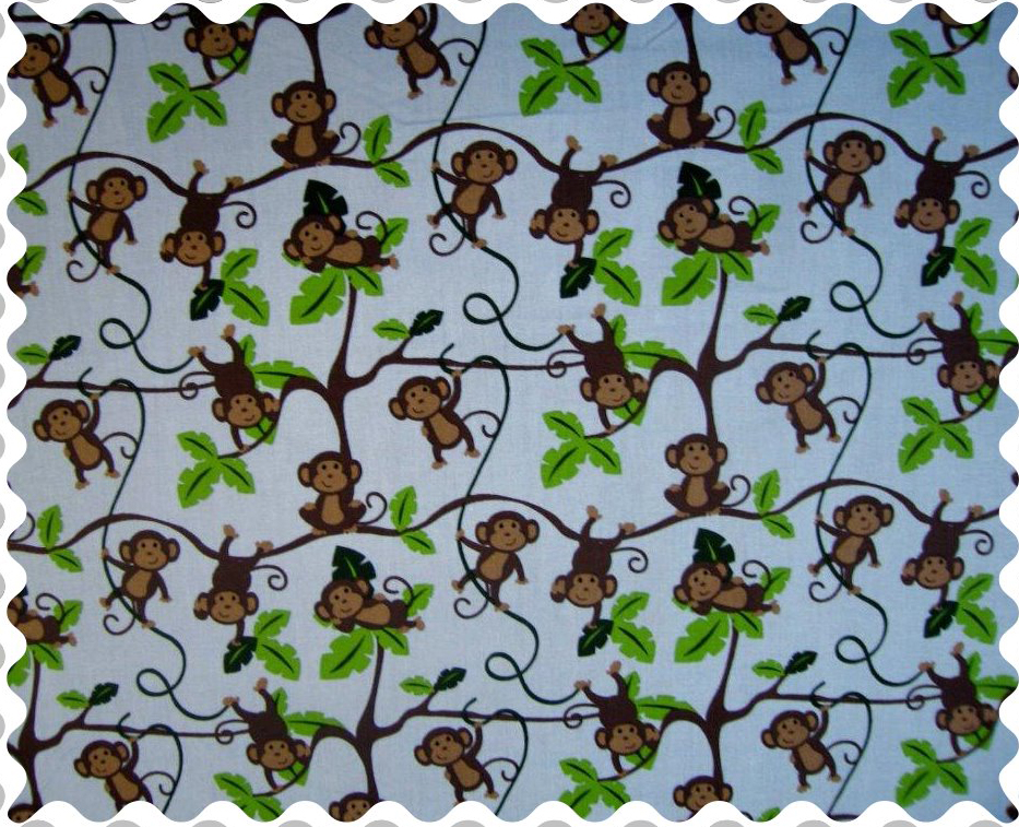 Jersey knit crib toddler sheets 28 in x 52 in crib sheets for Nursery monkey fabric